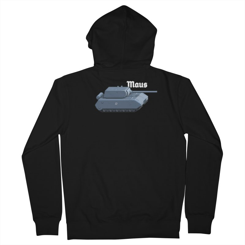 Maus Men's French Terry Zip-Up Hoody by Pixel Panzers's Merchandise