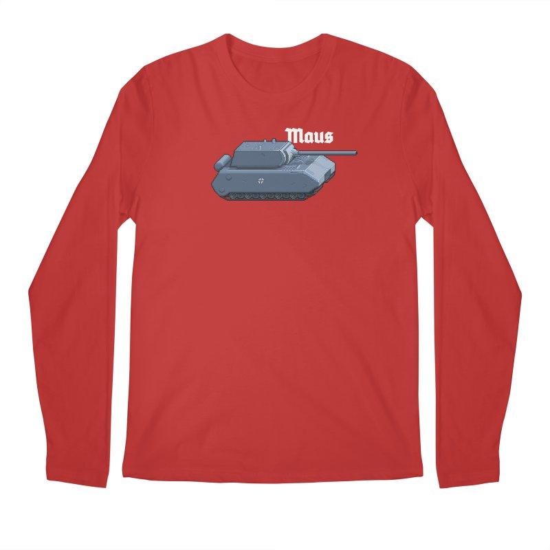 Maus Men's Regular Longsleeve T-Shirt by Pixel Panzers's Merchandise