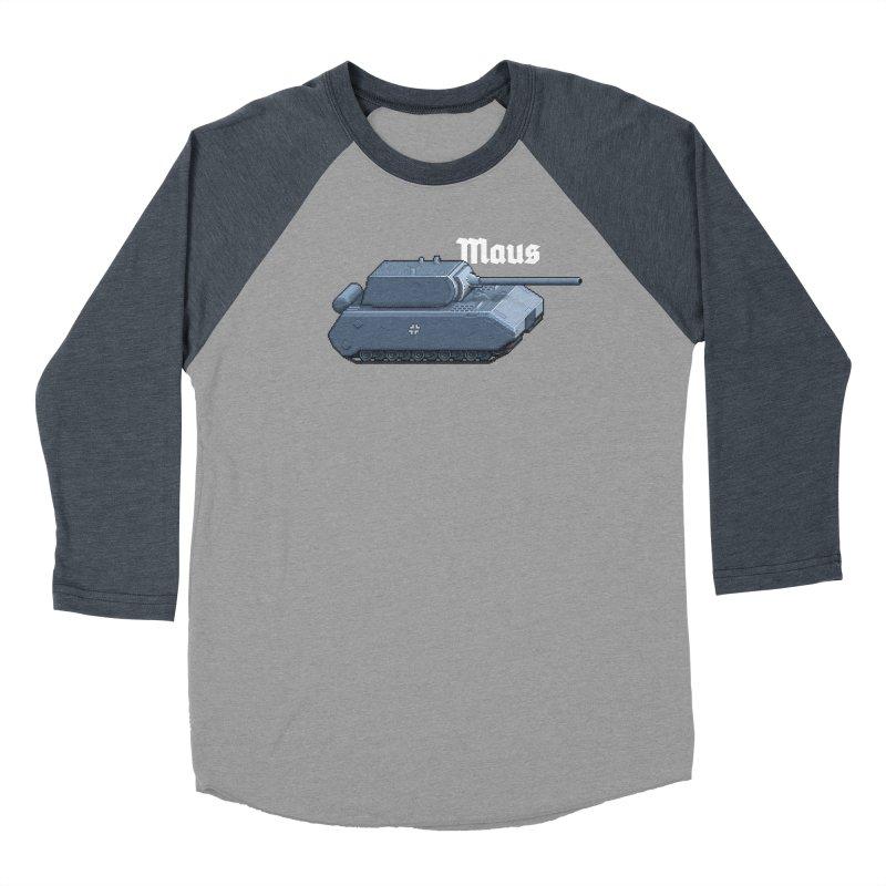 Maus Men's Baseball Triblend Longsleeve T-Shirt by Pixel Panzers's Merchandise