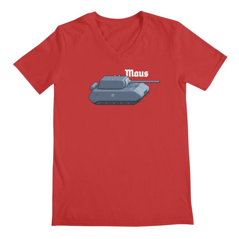 Maus Men's Regular V-Neck by Pixel Panzers's Merchandise