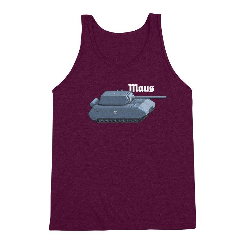 Maus Men's Triblend Tank by Pixel Panzers's Merchandise