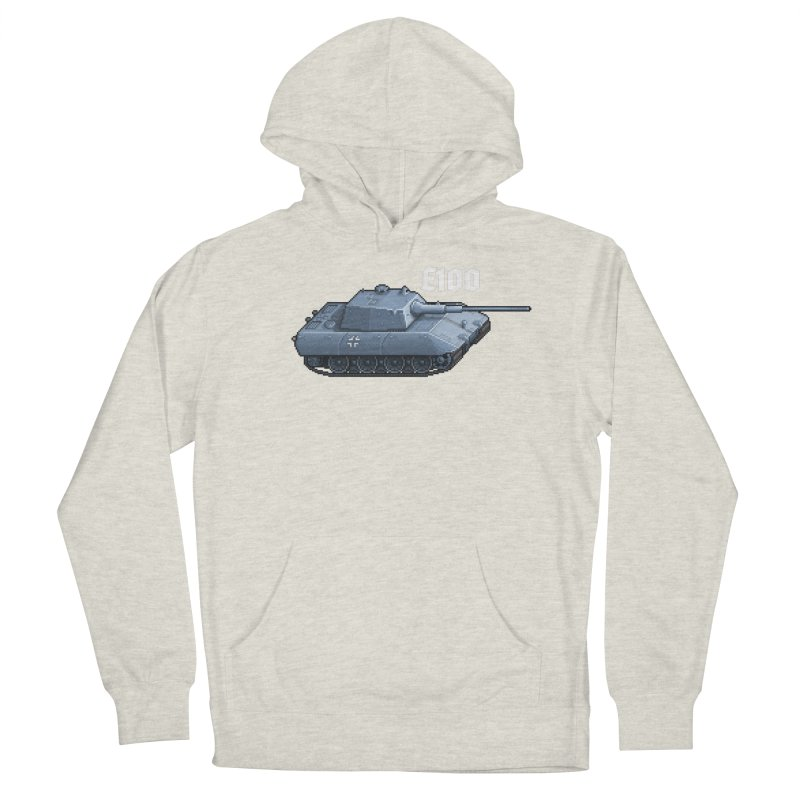 E-100 Men's French Terry Pullover Hoody by Pixel Panzers's Merchandise