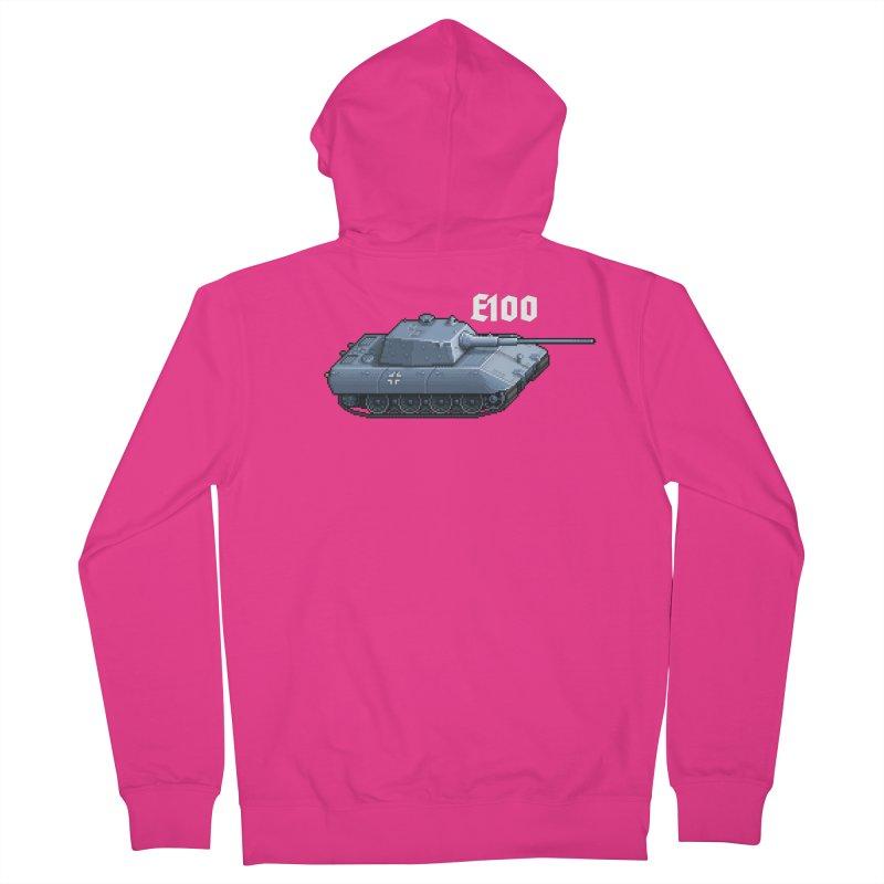 E-100 Men's Zip-Up Hoody by Pixel Panzers's Merchandise