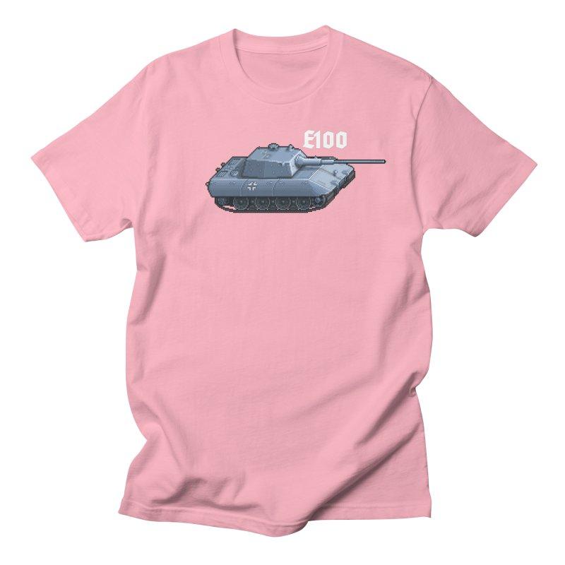 E-100 Men's T-Shirt by Pixel Panzers's Merchandise