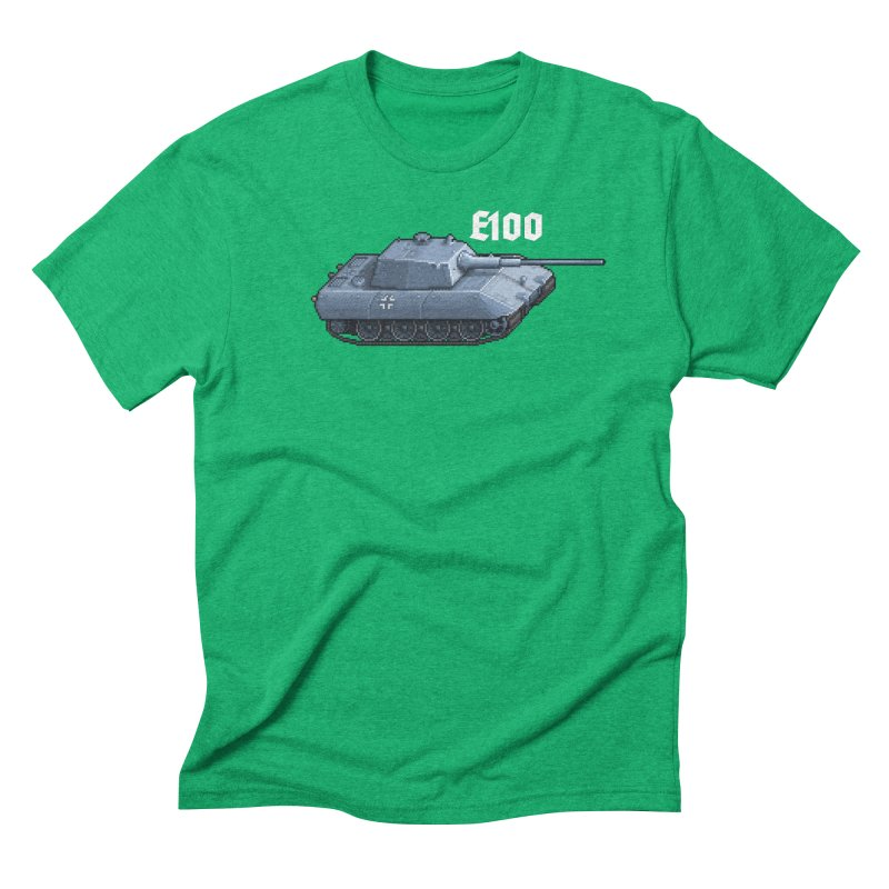 E-100 Men's Triblend T-Shirt by Pixel Panzers's Merchandise