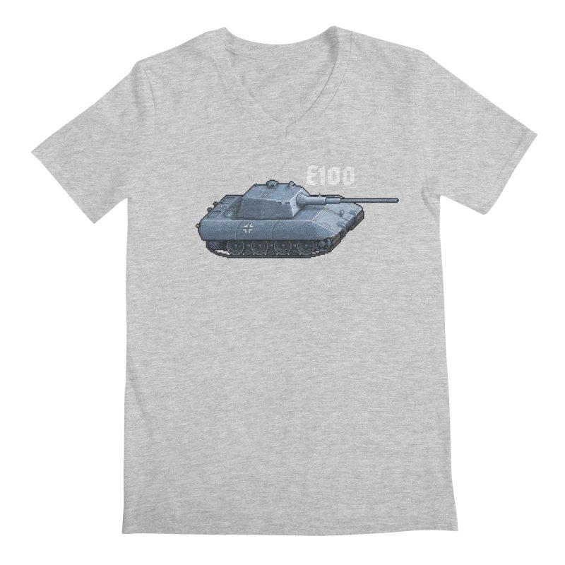 E-100 Men's V-Neck by Pixel Panzers's Merchandise