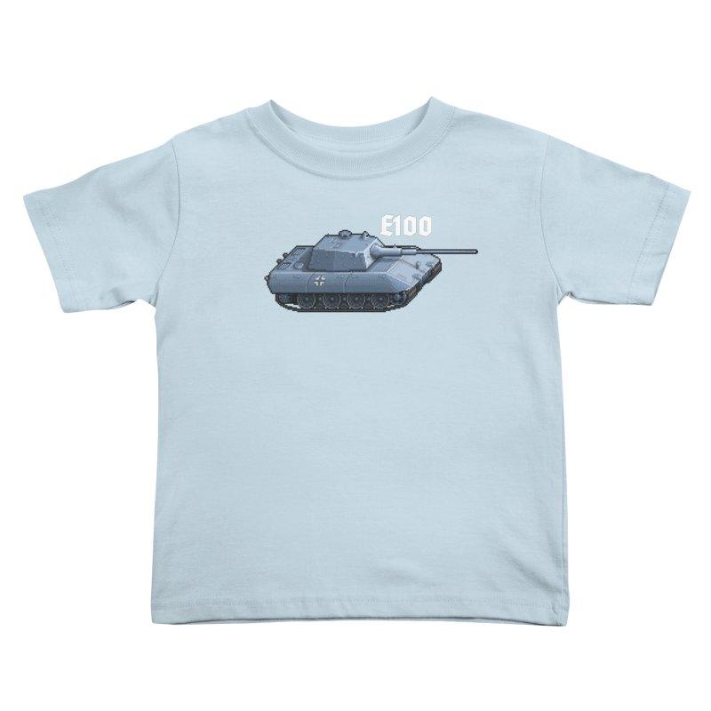 E-100 Kids Toddler T-Shirt by Pixel Panzers's Merchandise