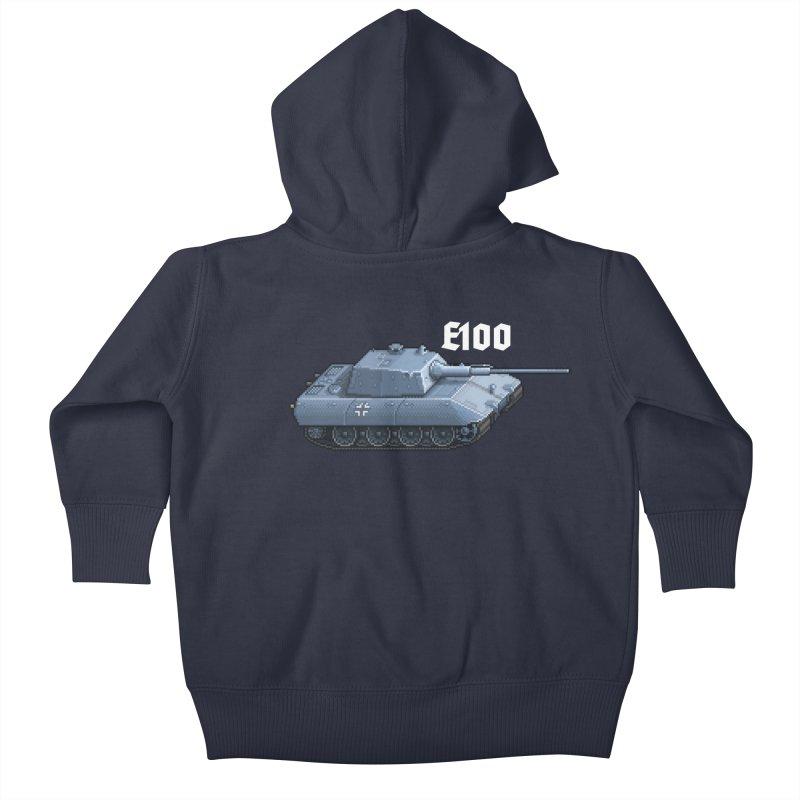 E-100 Kids Baby Zip-Up Hoody by Pixel Panzers's Merchandise