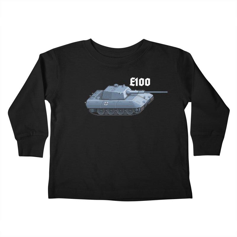 E-100 Kids Toddler Longsleeve T-Shirt by Pixel Panzers's Merchandise