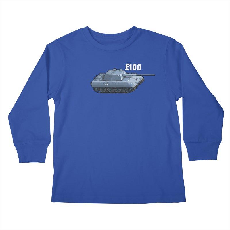 E-100 Kids Longsleeve T-Shirt by Pixel Panzers's Merchandise