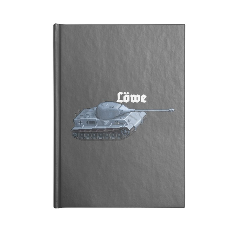 Löwe Accessories Lined Journal Notebook by Pixel Panzers's Merchandise