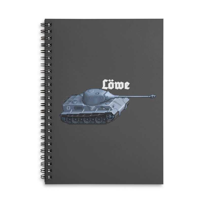 Löwe Accessories Lined Spiral Notebook by Pixel Panzers's Merchandise