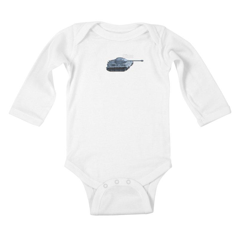 Löwe Kids Baby Longsleeve Bodysuit by Pixel Panzers's Merchandise