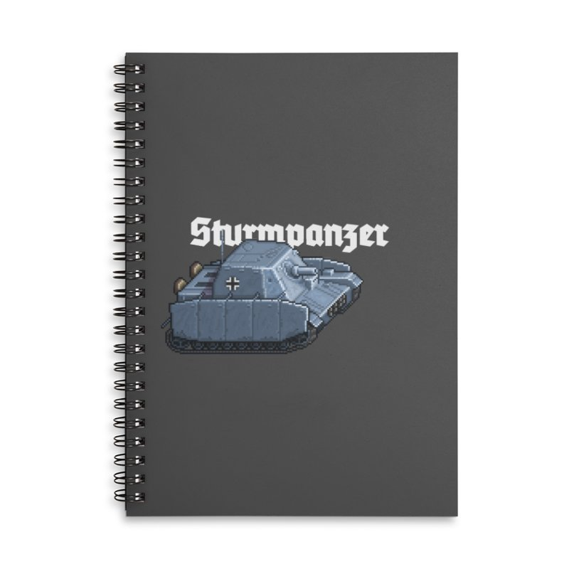 Sturmpanzer Accessories Lined Spiral Notebook by Pixel Panzers's Merchandise