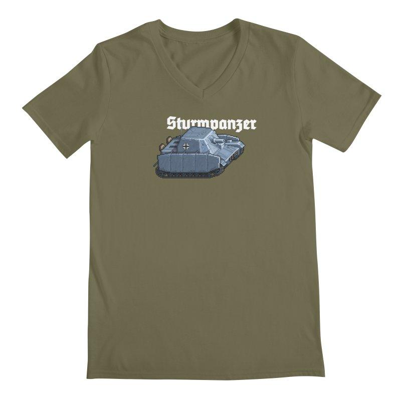Sturmpanzer Men's V-Neck by Pixel Panzers's Merchandise
