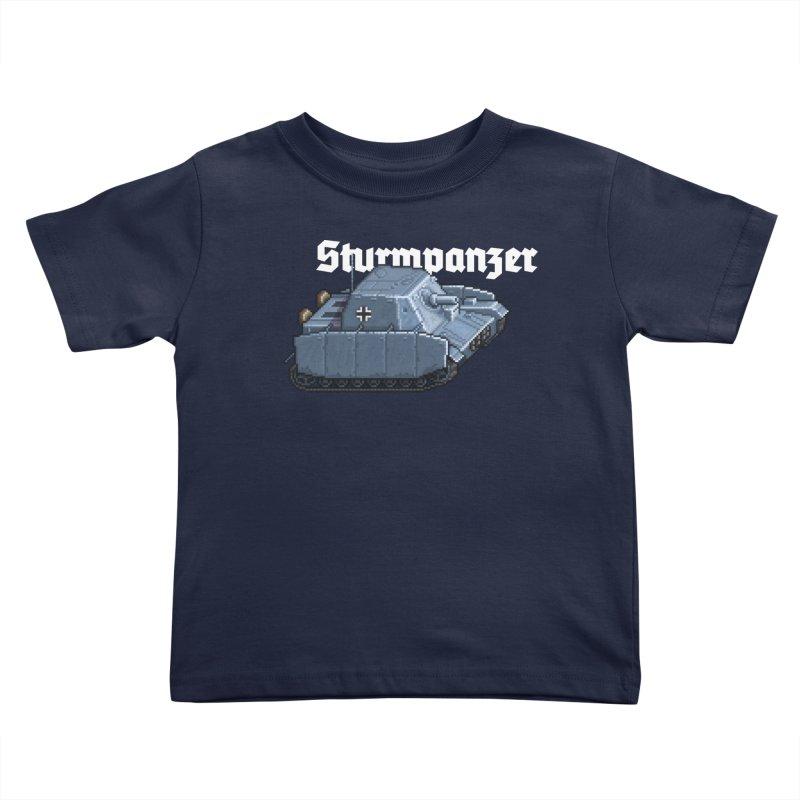 Sturmpanzer Kids Toddler T-Shirt by Pixel Panzers's Merchandise