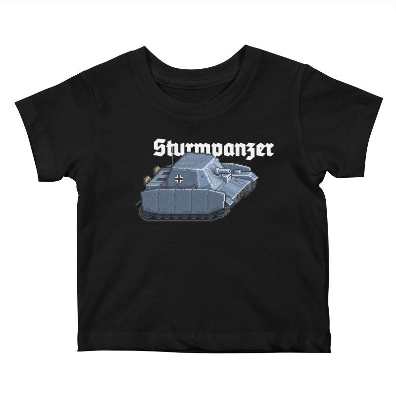 Sturmpanzer Kids Baby T-Shirt by Pixel Panzers's Merchandise