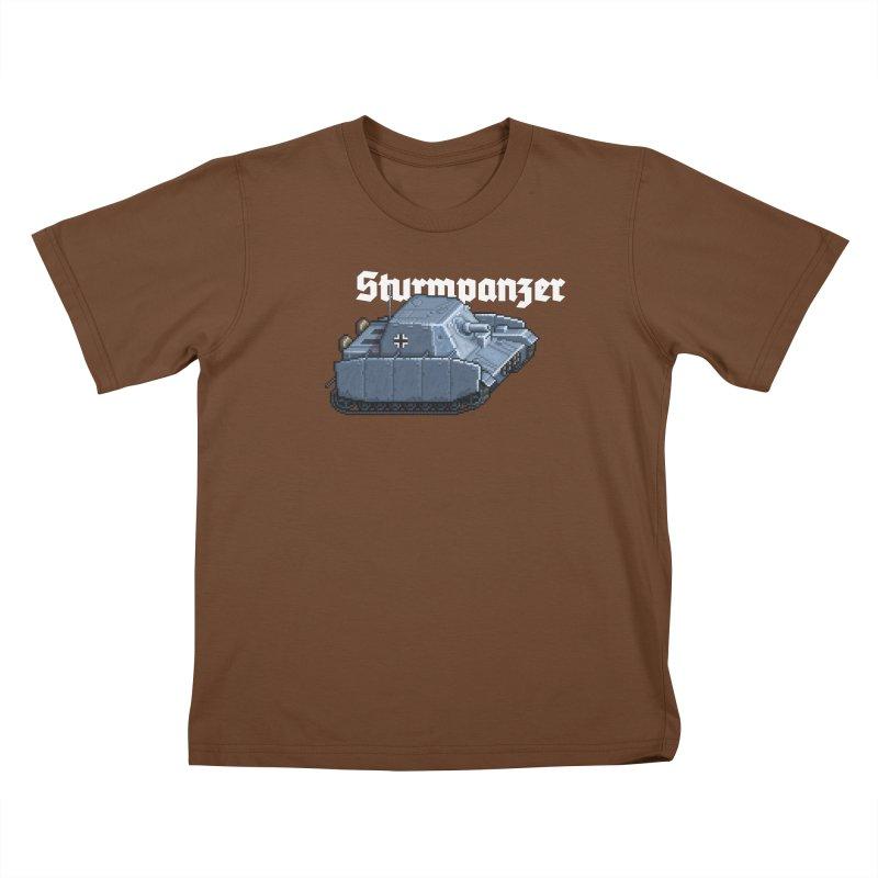 Sturmpanzer Kids T-Shirt by Pixel Panzers's Merchandise