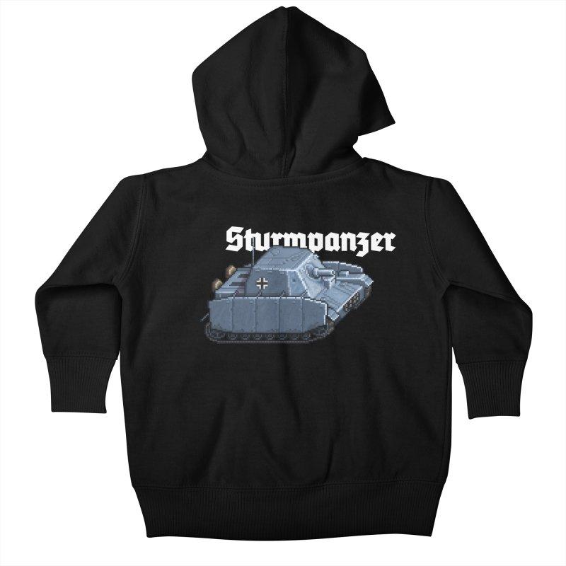 Sturmpanzer Kids Baby Zip-Up Hoody by Pixel Panzers's Merchandise