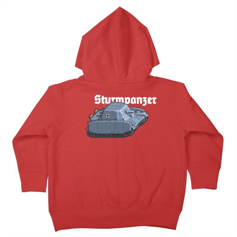 Sturmpanzer Kids Toddler Zip-Up Hoody by Pixel Panzers's Merchandise
