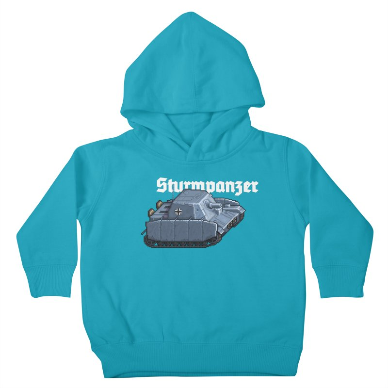 Sturmpanzer Kids Toddler Pullover Hoody by Pixel Panzers's Merchandise