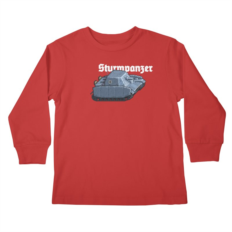 Sturmpanzer Kids Longsleeve T-Shirt by Pixel Panzers's Merchandise