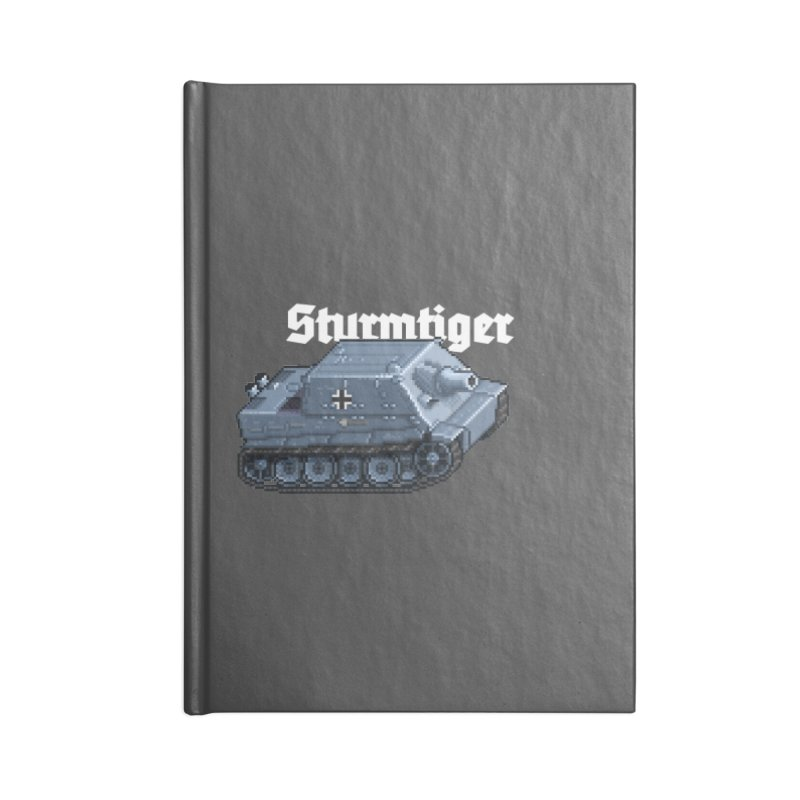Sturmtiger Accessories Lined Journal Notebook by Pixel Panzers's Merchandise