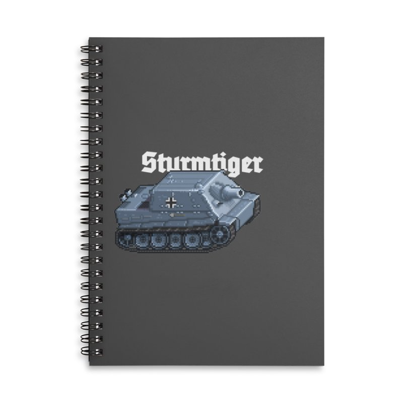 Sturmtiger Accessories Lined Spiral Notebook by Pixel Panzers's Merchandise
