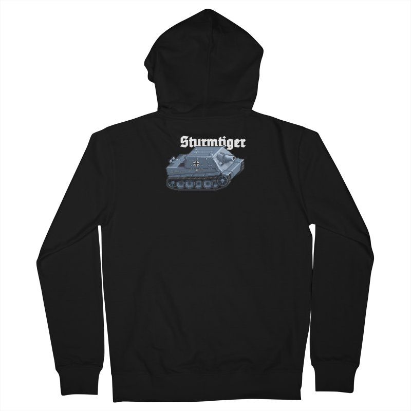Sturmtiger Men's French Terry Zip-Up Hoody by Pixel Panzers's Merchandise