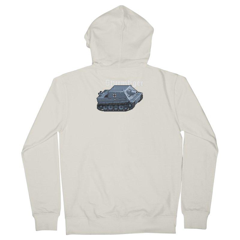 Sturmtiger Men's French Terry Zip-Up Hoody by Pixel Panzers's Merchandise