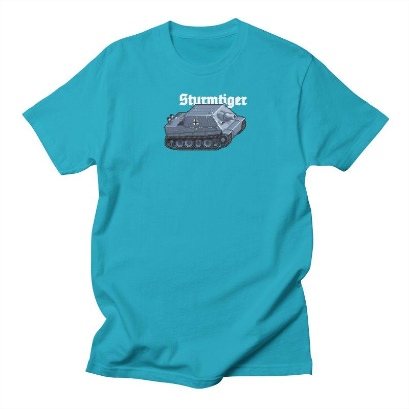 Sturmtiger Men's T-Shirt by Pixel Panzers's Merchandise