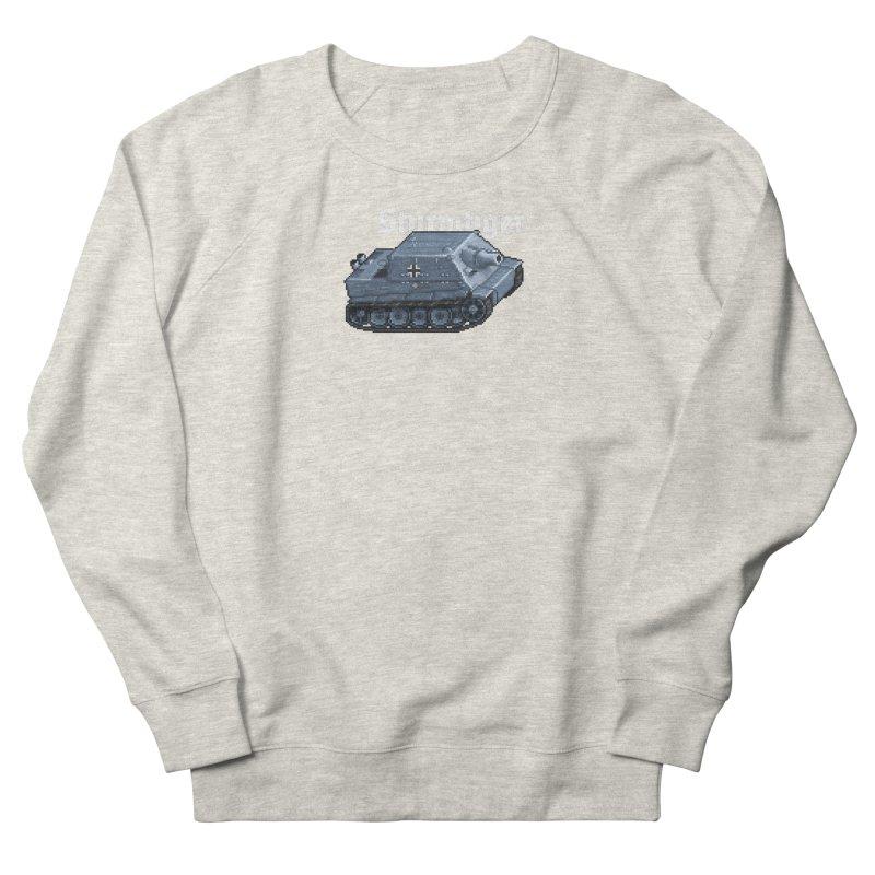 Sturmtiger Men's French Terry Sweatshirt by Pixel Panzers's Merchandise