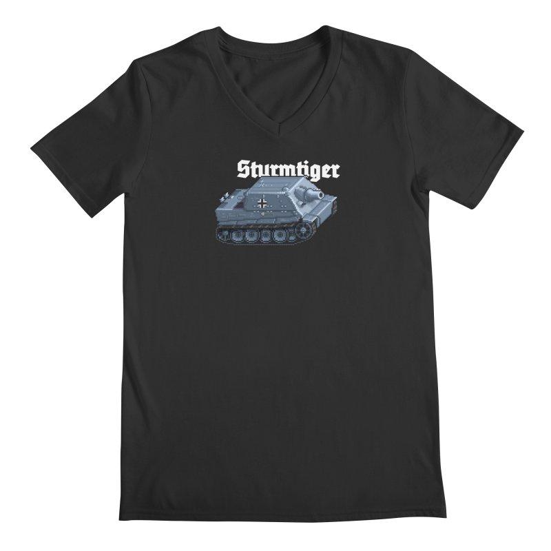 Sturmtiger Men's V-Neck by Pixel Panzers's Merchandise