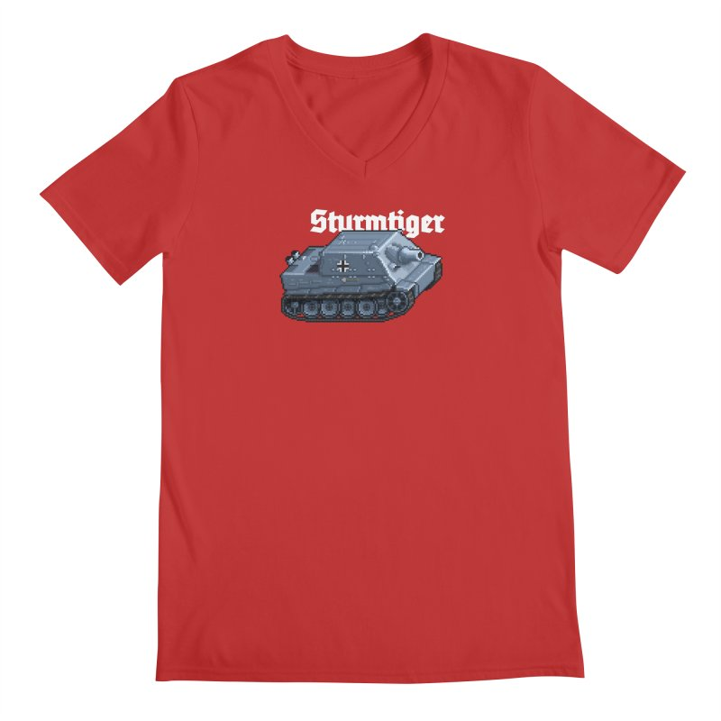 Sturmtiger Men's Regular V-Neck by Pixel Panzers's Merchandise