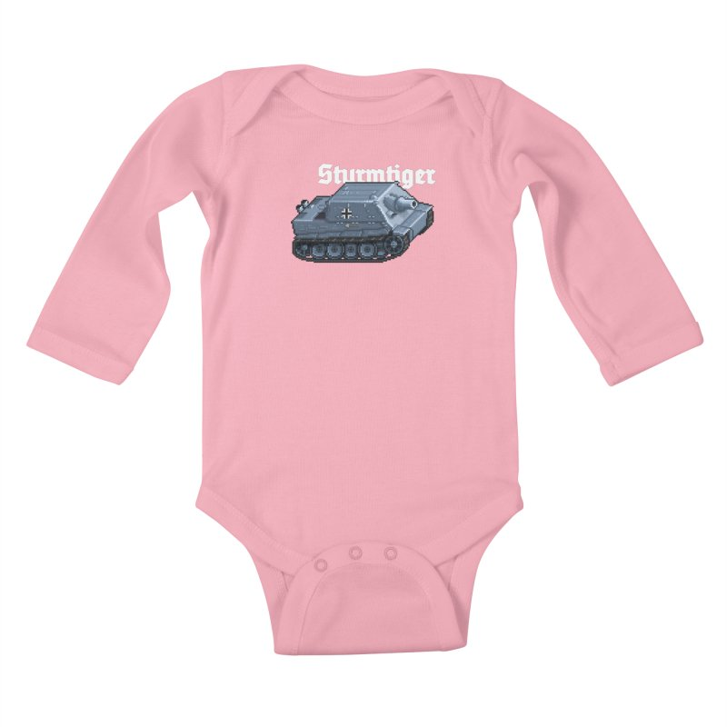 Sturmtiger Kids Baby Longsleeve Bodysuit by Pixel Panzers's Merchandise