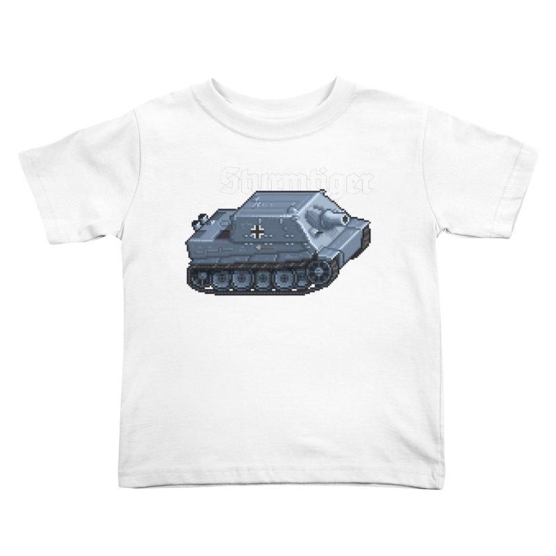 Sturmtiger Kids Toddler T-Shirt by Pixel Panzers's Merchandise