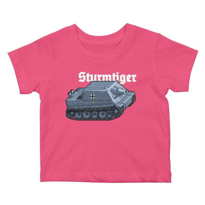 Sturmtiger Kids Baby T-Shirt by Pixel Panzers's Merchandise