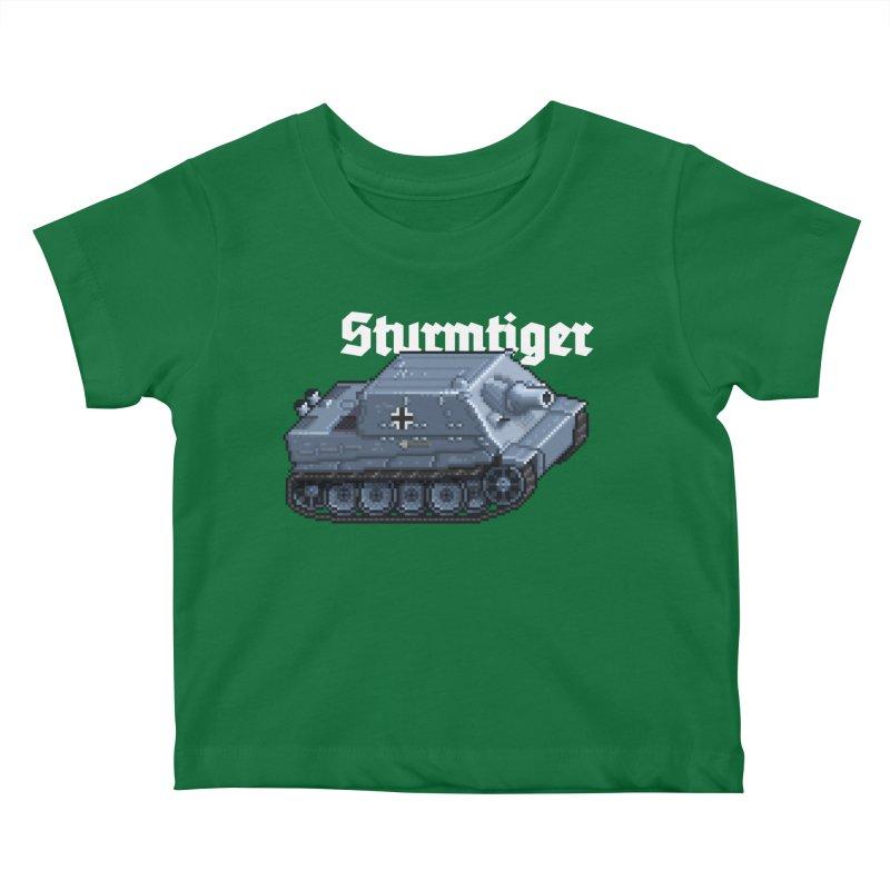 Sturmtiger Kids Baby T-Shirt by Pixel Panzers's Merchandise