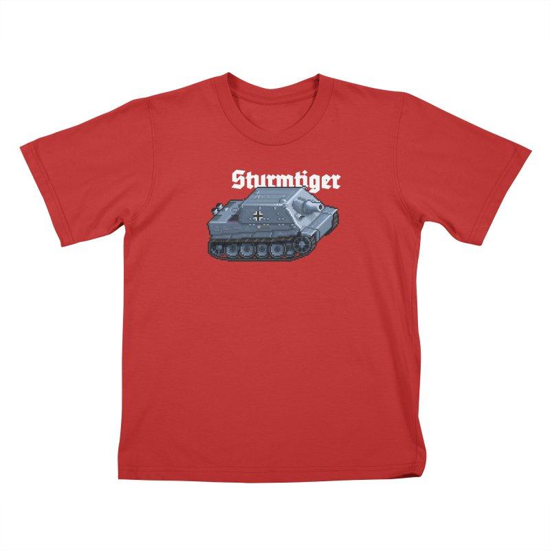 Sturmtiger Kids T-Shirt by Pixel Panzers's Merchandise