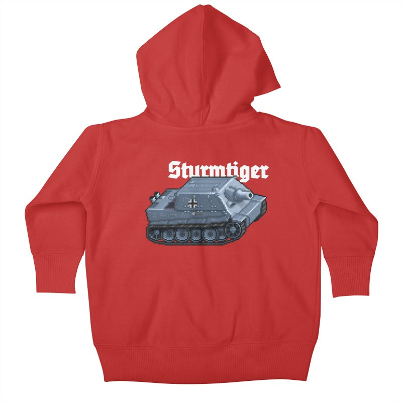 Sturmtiger Kids Baby Zip-Up Hoody by Pixel Panzers's Merchandise