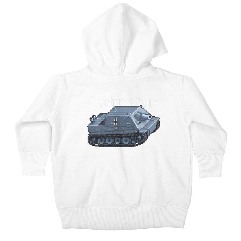 Sturmtiger Kids Baby Zip-Up Hoody by Pixel Panzers's Merchandise