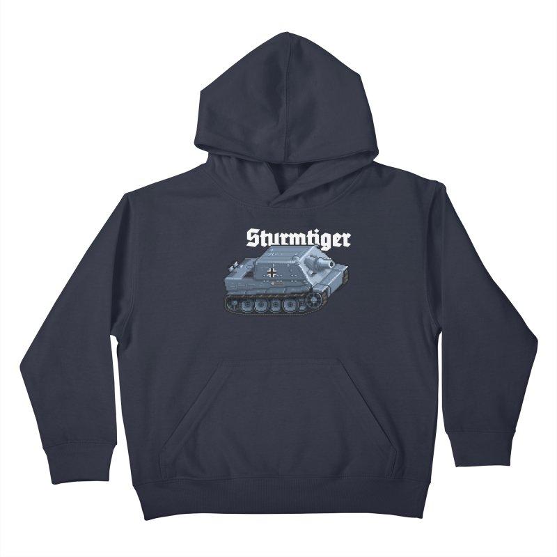 Sturmtiger Kids Pullover Hoody by Pixel Panzers's Merchandise