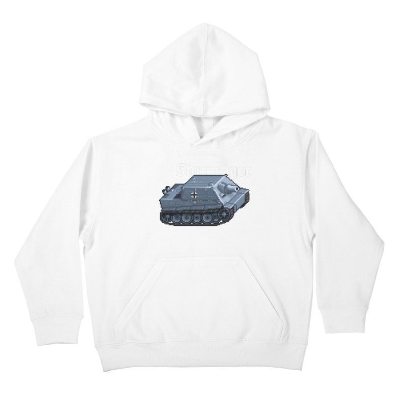Sturmtiger Kids Pullover Hoody by Pixel Panzers's Merchandise