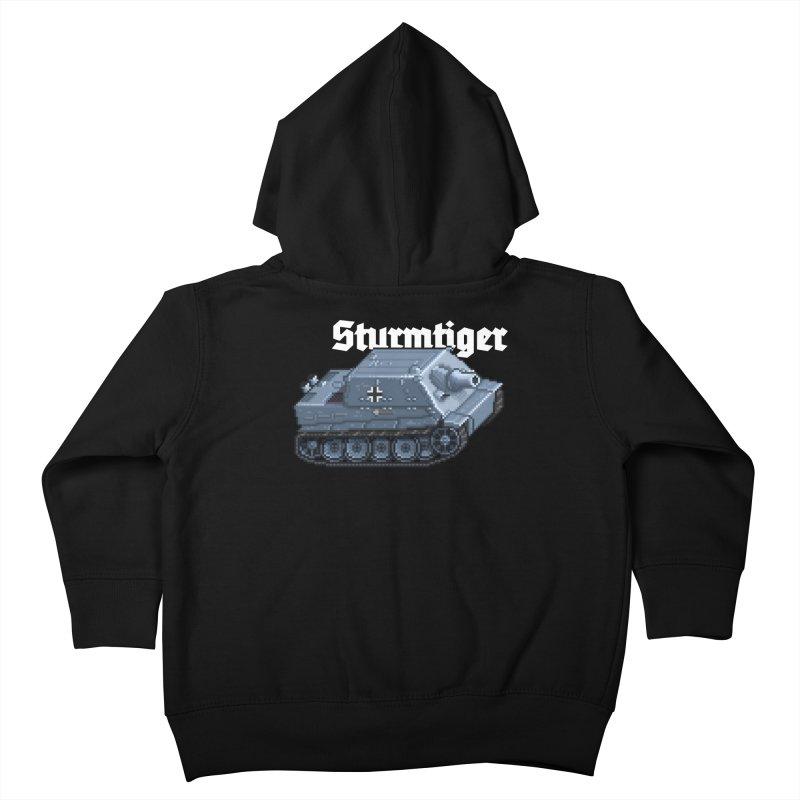 Sturmtiger Kids Toddler Zip-Up Hoody by Pixel Panzers's Merchandise