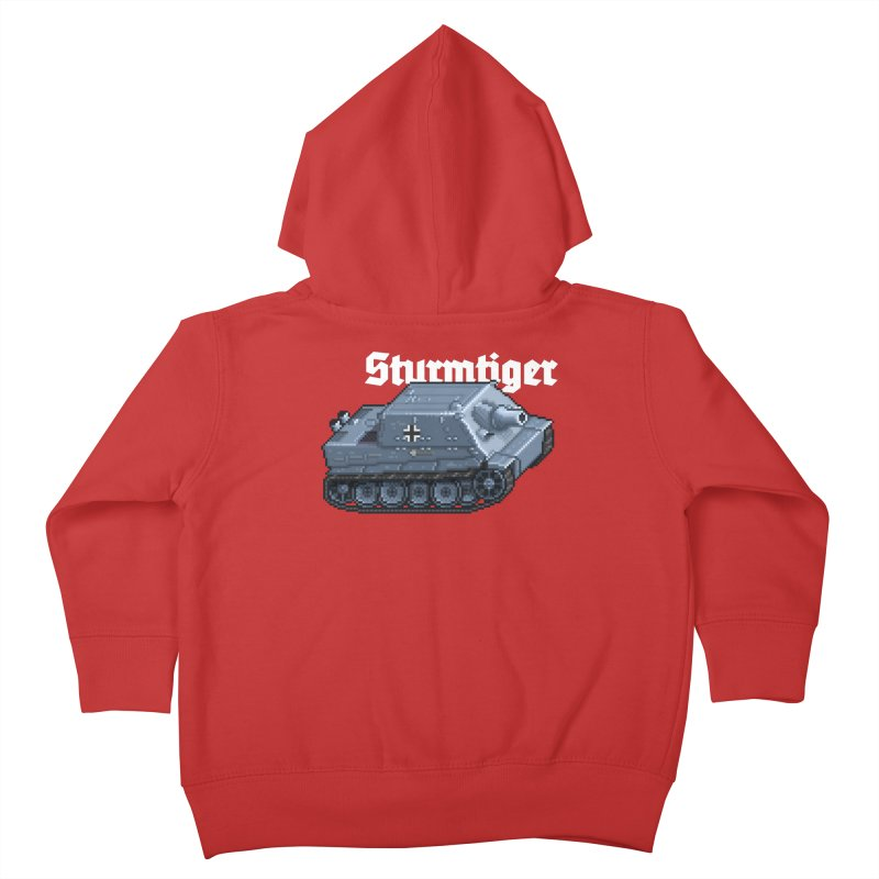 Sturmtiger Kids Toddler Zip-Up Hoody by Pixel Panzers's Merchandise