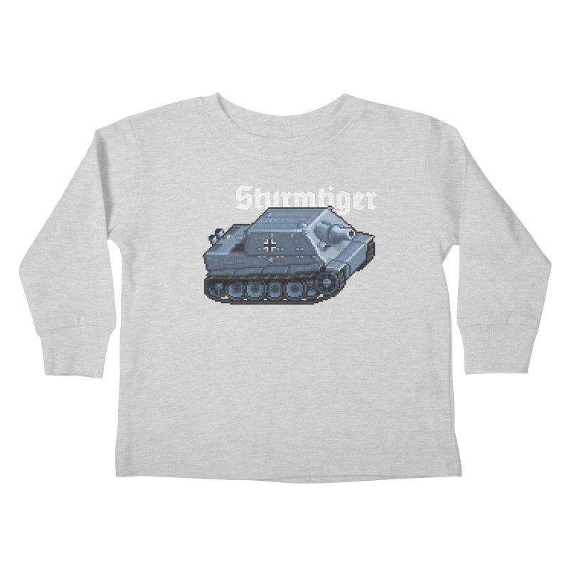 Sturmtiger Kids Toddler Longsleeve T-Shirt by Pixel Panzers's Merchandise
