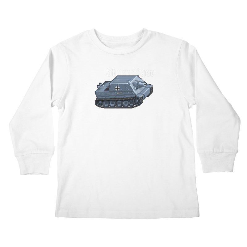 Sturmtiger Kids Longsleeve T-Shirt by Pixel Panzers's Merchandise