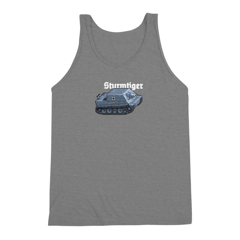 Sturmtiger Men's Triblend Tank by Pixel Panzers's Merchandise