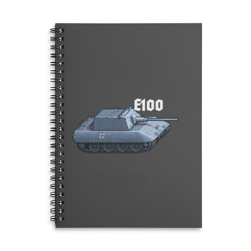 E-100 Krupp Accessories Lined Spiral Notebook by Pixel Panzers's Merchandise