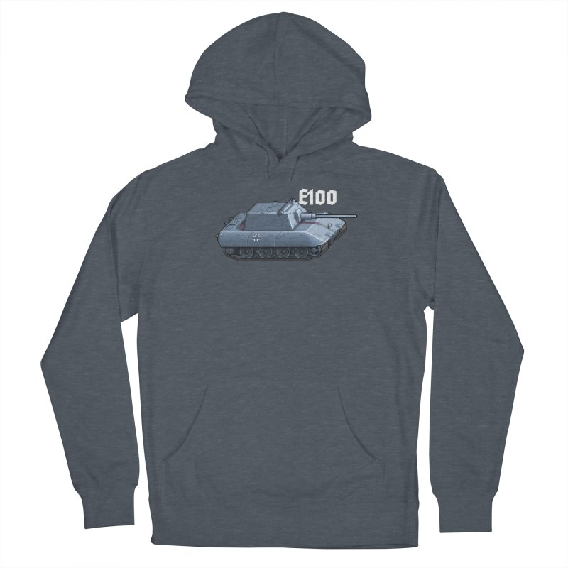 E-100 Krupp Men's French Terry Pullover Hoody by Pixel Panzers's Merchandise